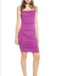 NWT Leith Ruched Bodycon Dress